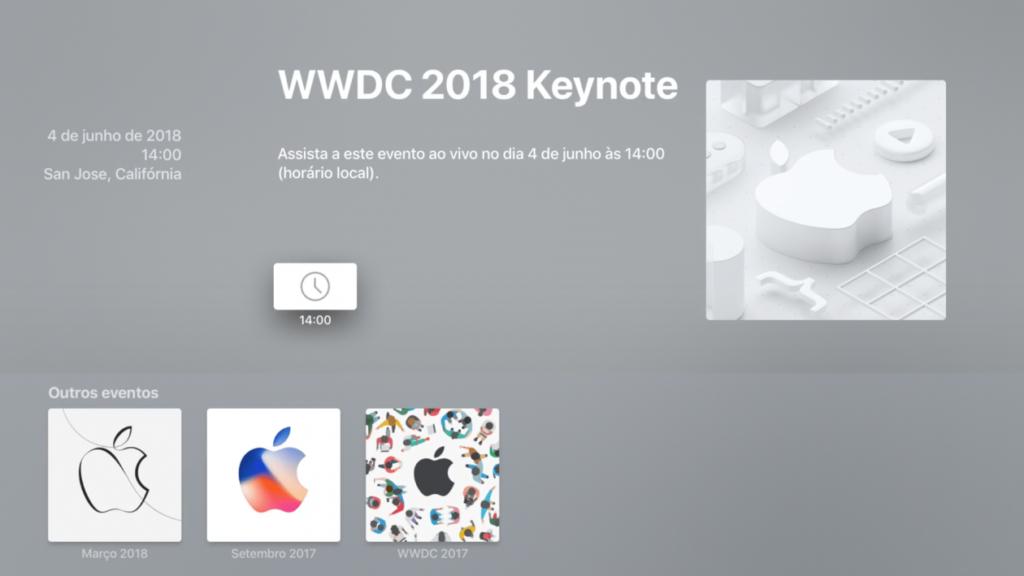 أجهزة تلفزيون Apple مستعدة بالفعل لبث حدث الافتتاح WWDC18 [atualizado]