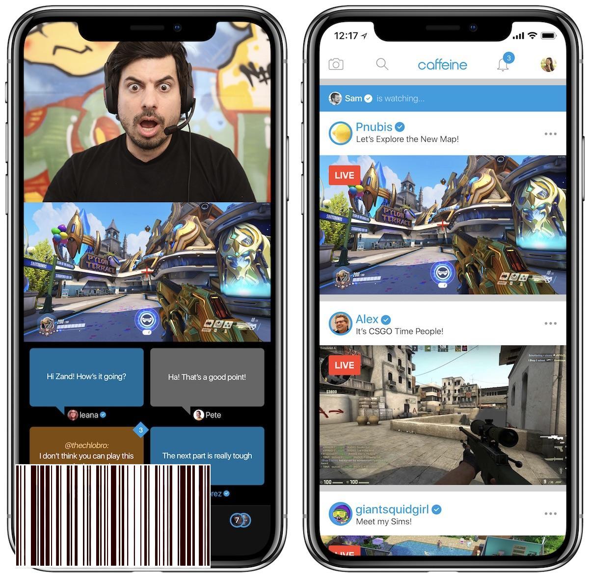 Screenshot do app Caffeine: Live Streaming