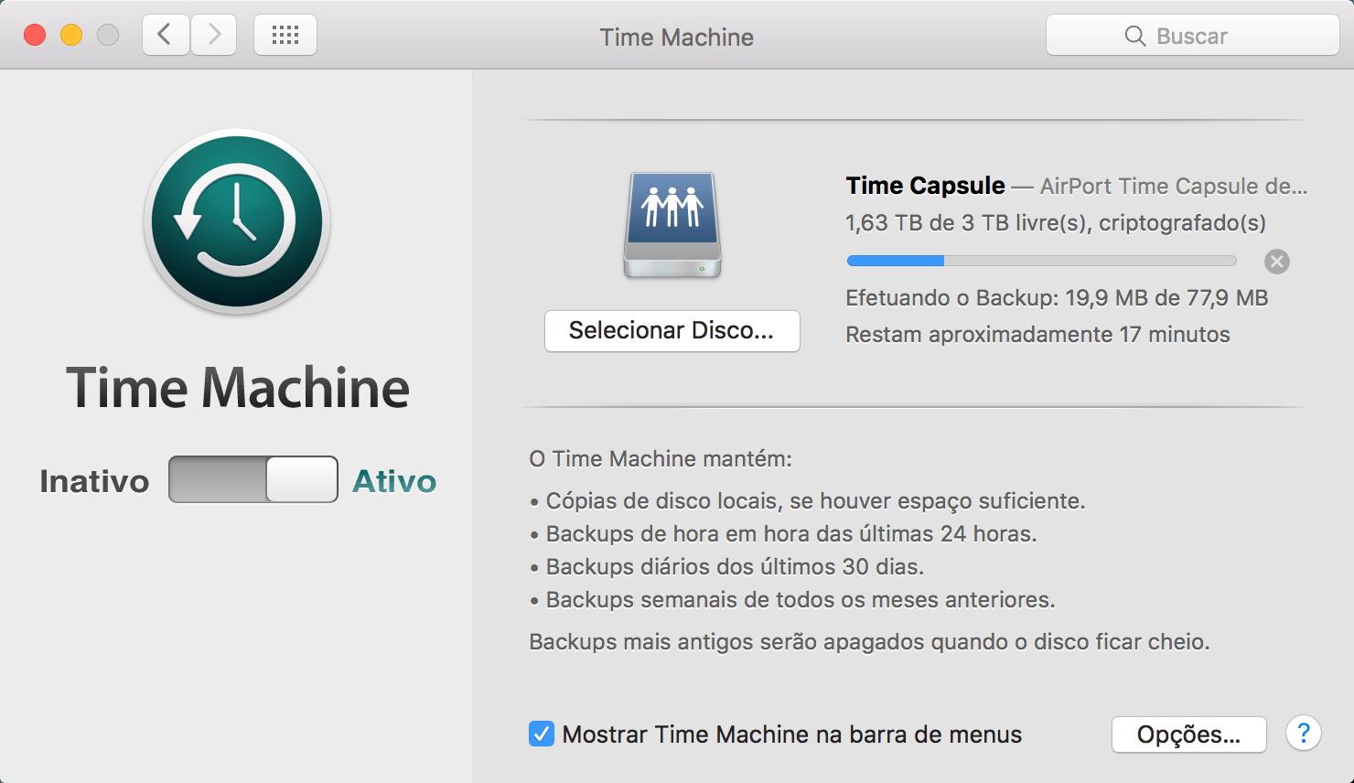النسخ الاحتياطي عبر Time Machine