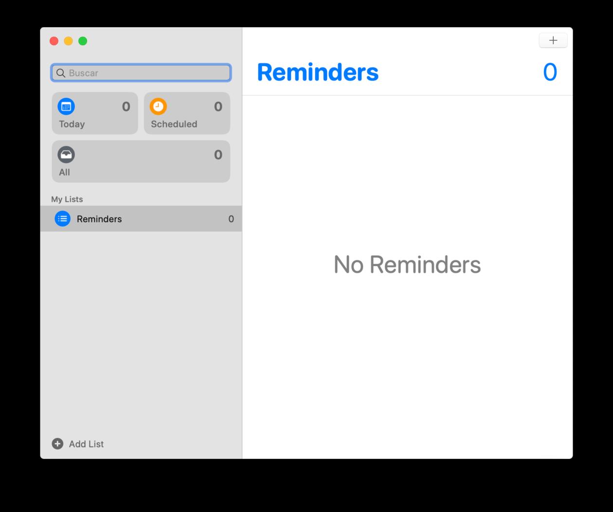 إعادة تصميم تذكير التطبيق على نظام التشغيل MacOS كاتالينا