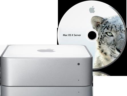 تقدم Apple أيضًا طرازًا جديدًا من Mac mini مع خادم Mac OS X Snow Leopard Server