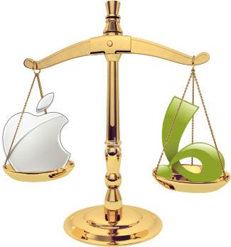 التفاح مقابل بسيستار على الميزان