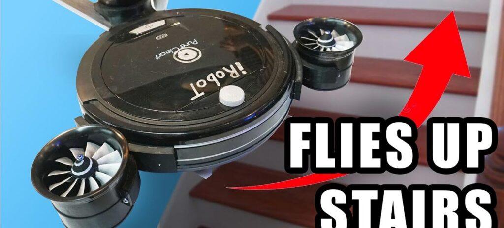 Engenheiro cria robô aspirador que voa para limpar lugares mais altos da casa