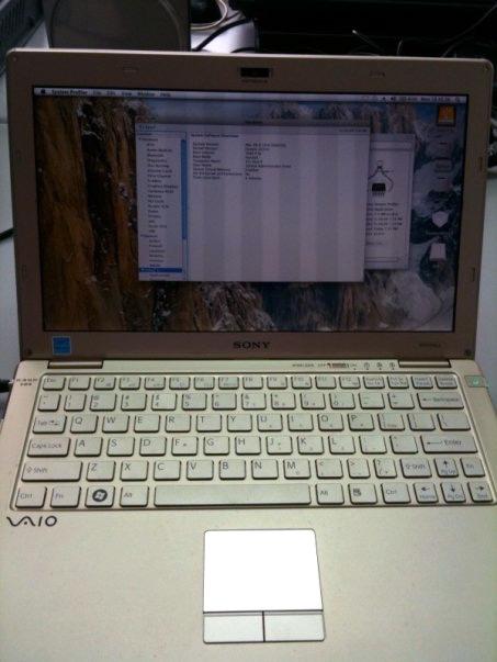 وقمت بالفعل بتثبيت Snow Leopard على Sony VAIO X