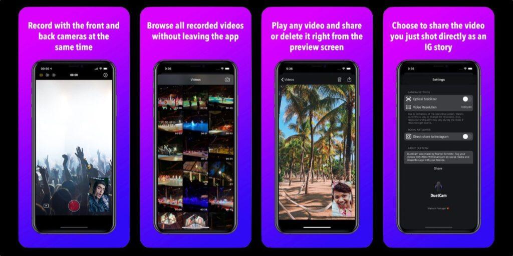 يأخذ التطبيق الجديد مقاطع فيديو بكاميرا iPhone في وقت واحد - MacMagazine.com