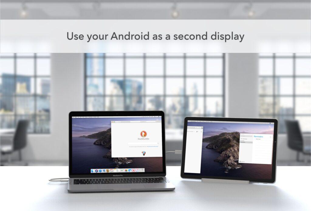 يمكن الآن استخدام أجهزة Android كشاشتين لأجهزة Macs - MacMagazine.com