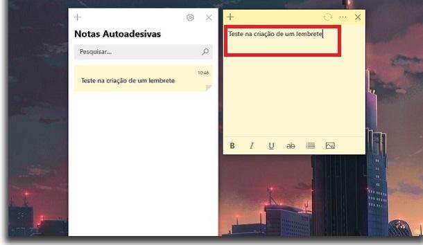 إضافة تذكير على النوافذ إنشاء ملاحظة