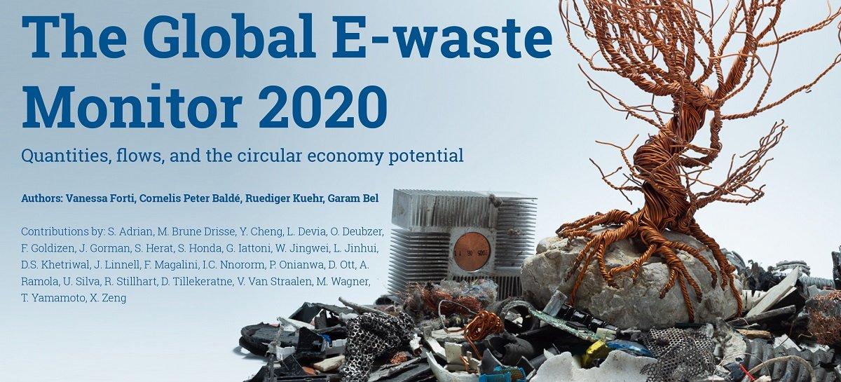 Produção de lixo eletrônico bate recorde com 53,6 milhões de toneladas em 2019