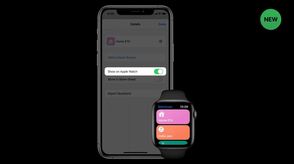 إعداد اختصارات Apple Watch