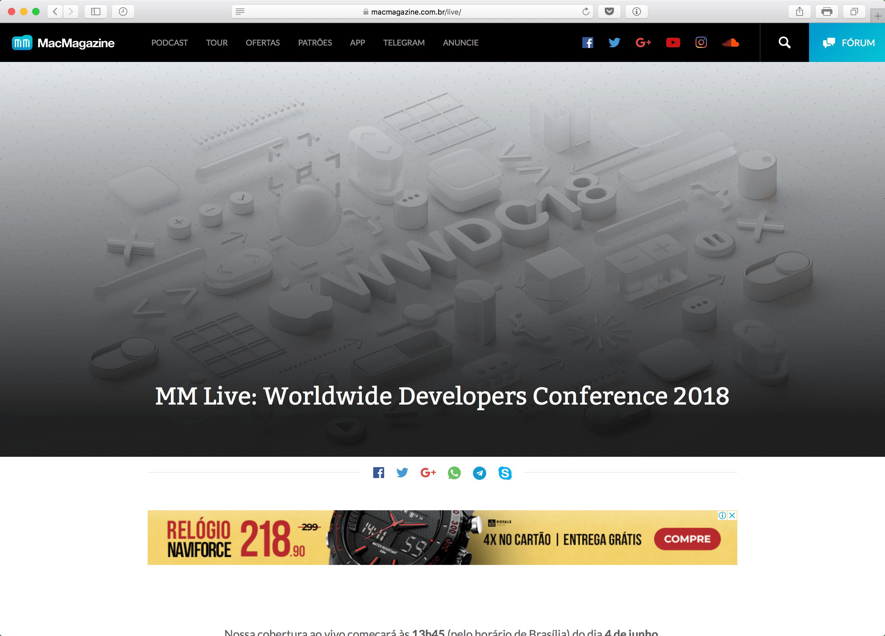 WWDC18 ملم مباشر