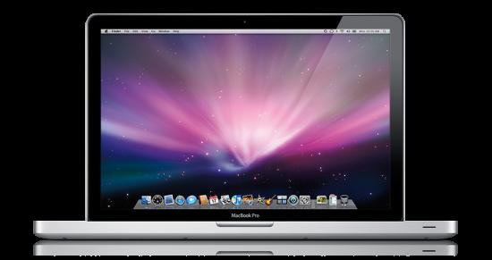 MacBook Pro مع شاشة لامعة