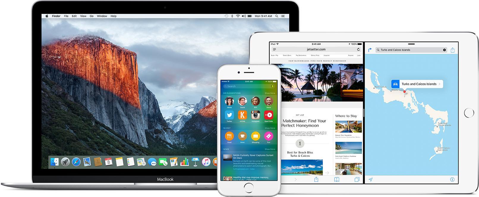 إصدارات بيتا من OS X El Capitan 10.11 و iOS 9