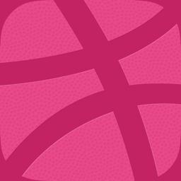 رمز تطبيق Dribbble