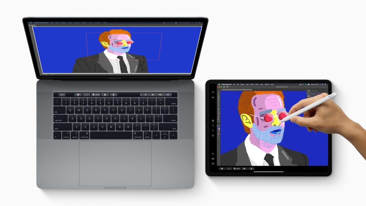 ميزة MacOS Catalina Sidecar مع شاشة MacBook Pro الموسعة على iPad Pro