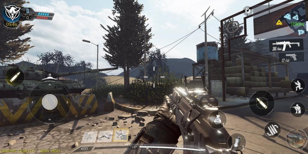 تطبيق CoD Mobile ، بداية المباراة على خريطة المواجهة (Black Ops 2).