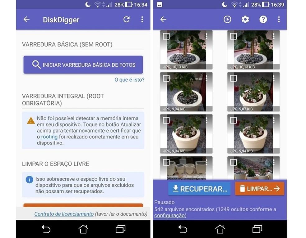 DiskDigger يستعيد الملفات المحذوفة من هاتف Android Photo: Reproduo / Maria Dias