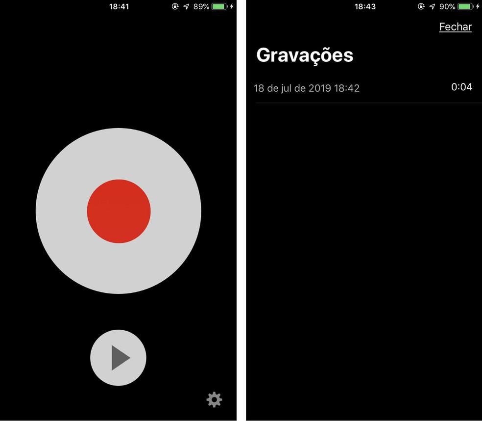 TapeACall يسجل المكالمات الهاتفية على iPhone (iOS) لإجراء مكالمات بين المكالمات Photo: Reproduo / Rodrigo Fernandes