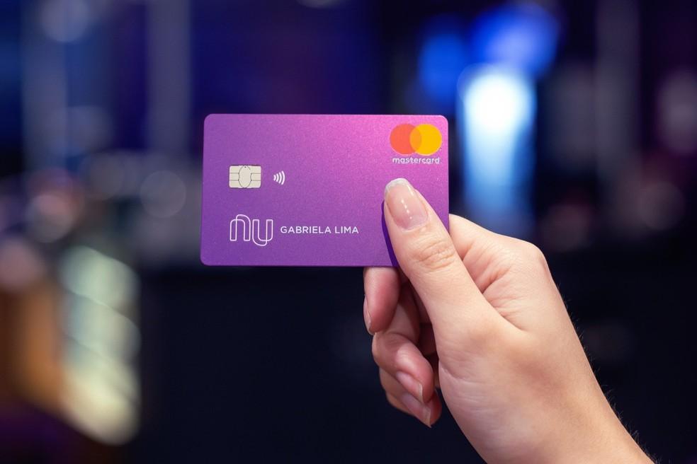 يمكن أن تكون بطاقة Nubank من Mastercard Gold أو Platinum Photo: Divulgao / Nubank