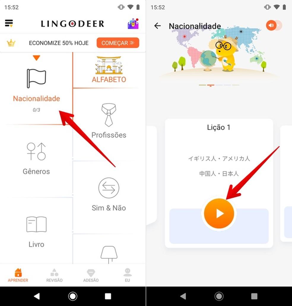 التطبيق يجلب دورة اليابانية للتعلم عن طريق الهاتف الخليوي صور: Reproduo / Helito Beggiora