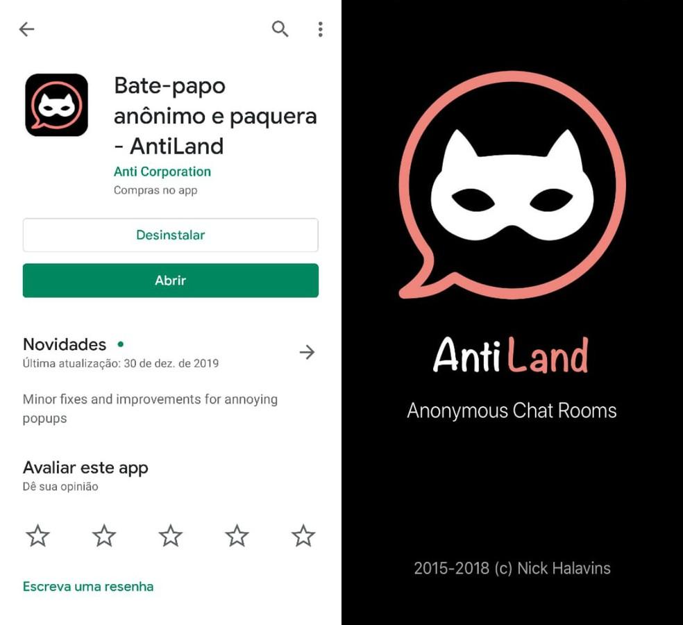 AntiLand هو تطبيق مواعدة عبر الإنترنت Photo: Reproduo / Clara Fabro