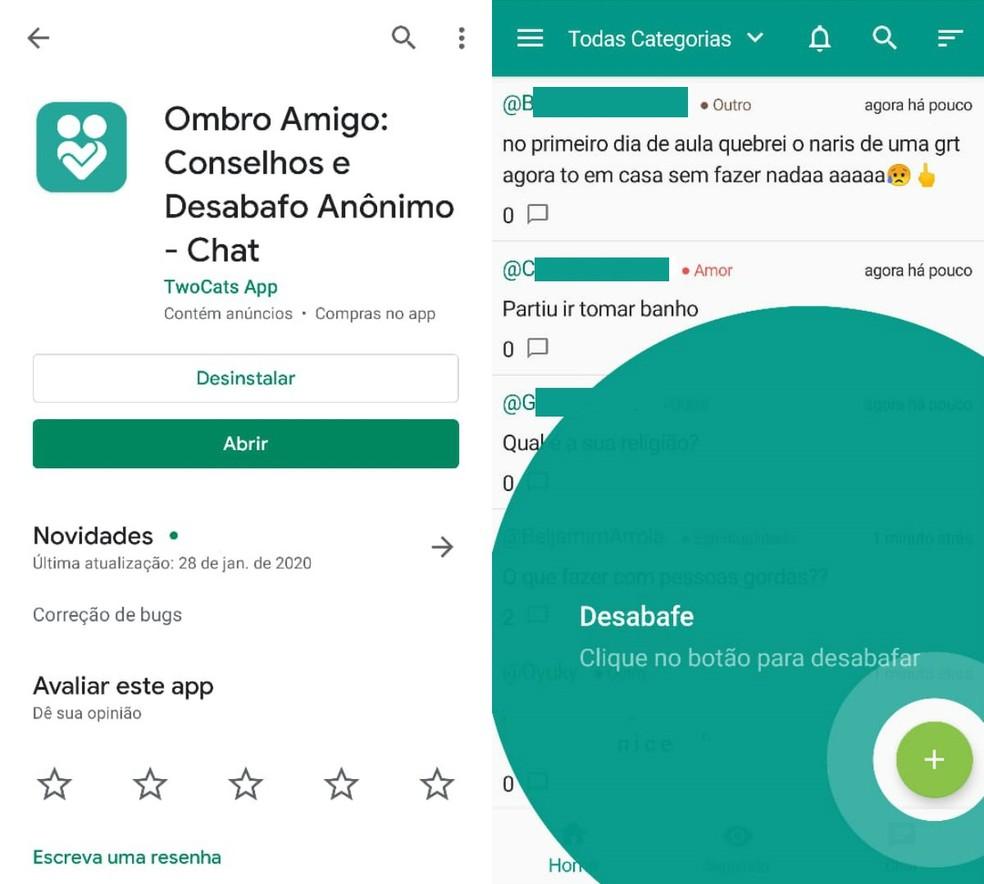 O Amigo Shoulder هو تطبيق لتقديم وتلقي المشورة بشكل مجهول الصورة: Reproduo / Clara Fabro