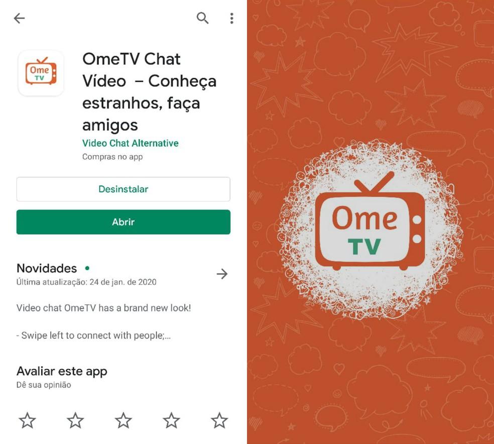 OmeTV هو تطبيق دردشة عبر مكالمات الفيديو Photo: Reproduction / Clara Fabro
