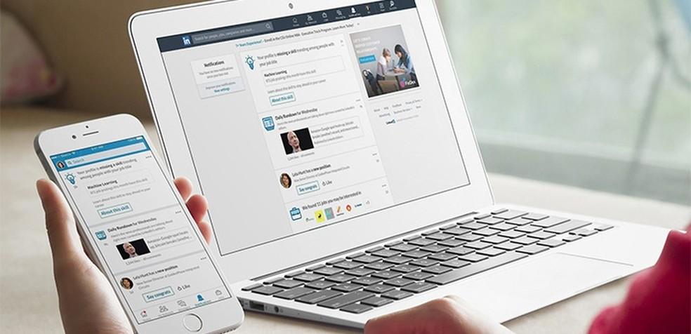 لدى LinkedIn موارد يمكن أن تساعد المستخدم على إنشاء سمعة احترافية جيدة عبر الإنترنت صورة: Divulgao / LinkedIn
