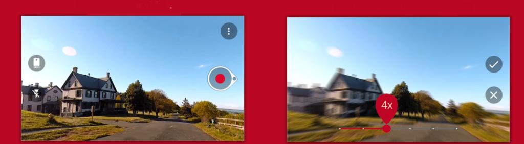استنساخ شاشتين تظهران مقاطع فيديو Hyperlapse تتسارع