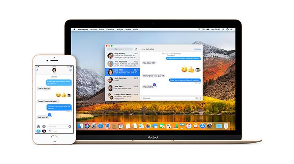 iMessage يتيح تكامل iPhone (iOS) مع أجهزة Apple الأخرى Photo: Divulgao / Apple