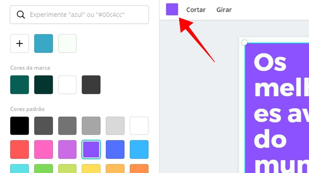 تغيير لون الأشكال التي تشكل التصميم الصورة: Reproduo / Paulo Alves