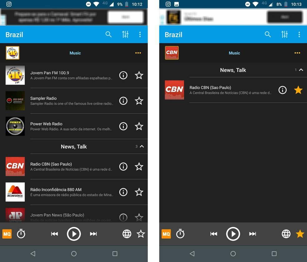 راديو اون لاين: FM و AM متوفرة على التطبيق الصورة: Reproduo / Rodrigo Fernandes