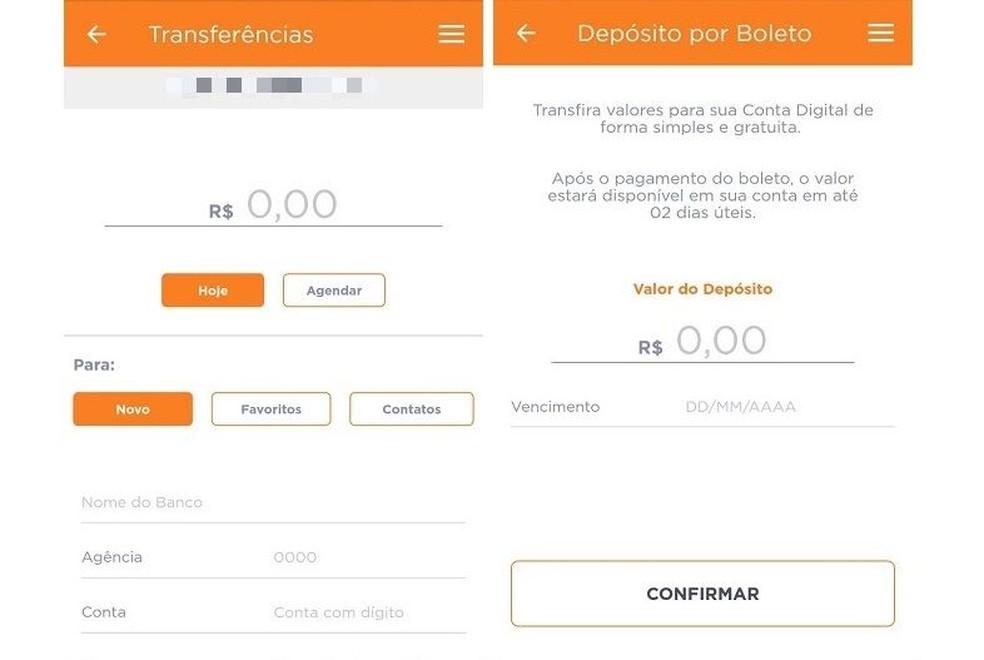 التحويلات إلى البنوك الأخرى والودائع المصرفية هي خدمات مجانية لعملاء Banco Inter. تصوير: Reproduo / Maria Dias