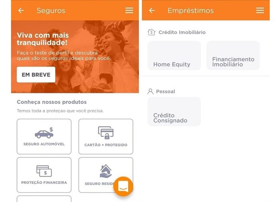 يمكن لمستخدمي حساب Banco Inter الرقمي طلب خدمات مثل القروض والتأمين Photo: Reproduo / Maria Dias