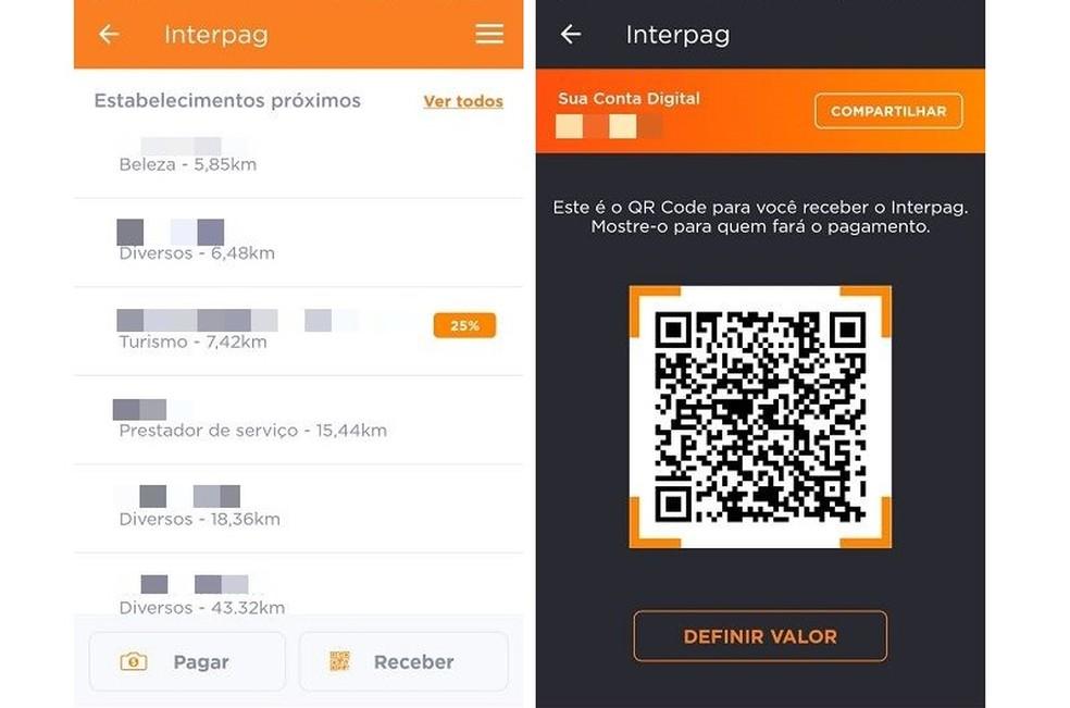 InterPag هو نظام دفع عبر رمز الاستجابة السريعة ، وهو متاح فقط لأصحاب الحسابات في Banco Inter Photo: Reproduo / Maria Dias