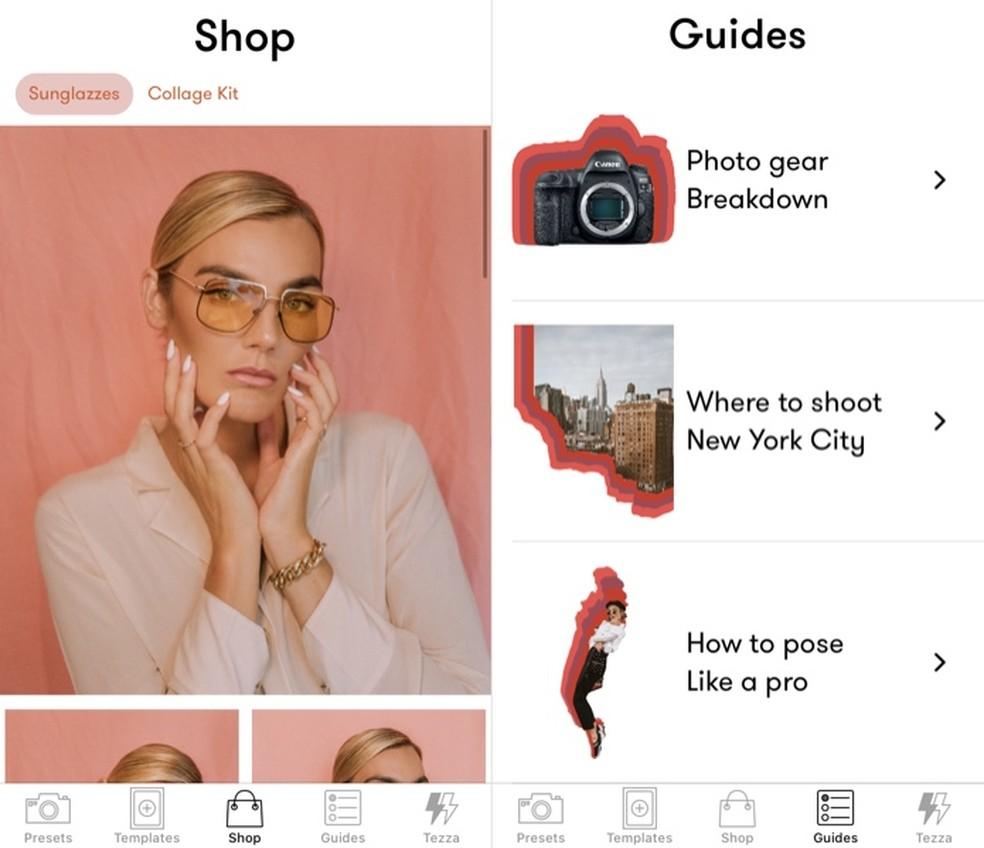 التطبيق Tezza لديه متجر ونصائح حول التصوير الفوتوغرافي من قبل المدون Foto: Reproduo / Helito Beggiora
