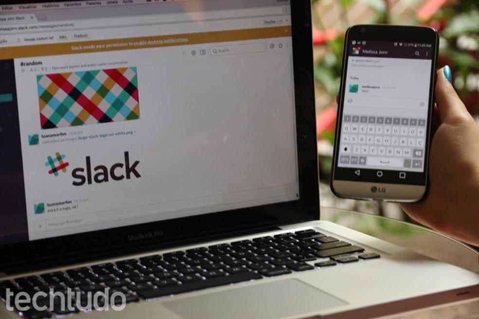 يتوفر Slack للهواتف الذكية التي تعمل بنظام Android و iPhone (iOS) ، بالإضافة إلى إصدار الويب صورة: Aline Batista / TechTudo