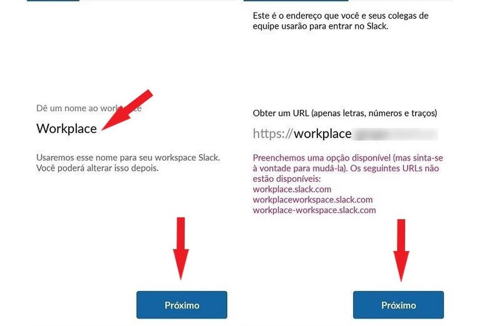 حدد مكان عملك الجديد في تطبيق Slack Photo: Reproduo / Maria Dias