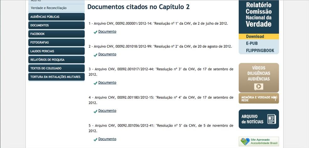 """في علامة التبويب """"المستندات"""" ستكون قائمة الوثائق المذكورة في كل فصل صورة: Reproduction / CNV"""