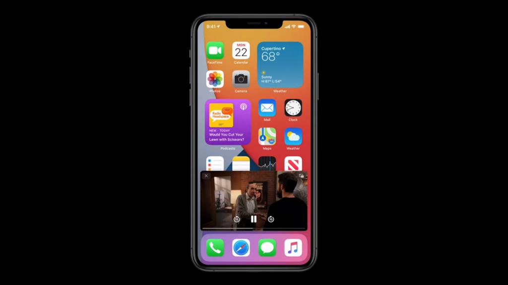 صورة داخل صورة على نظام iOS 14