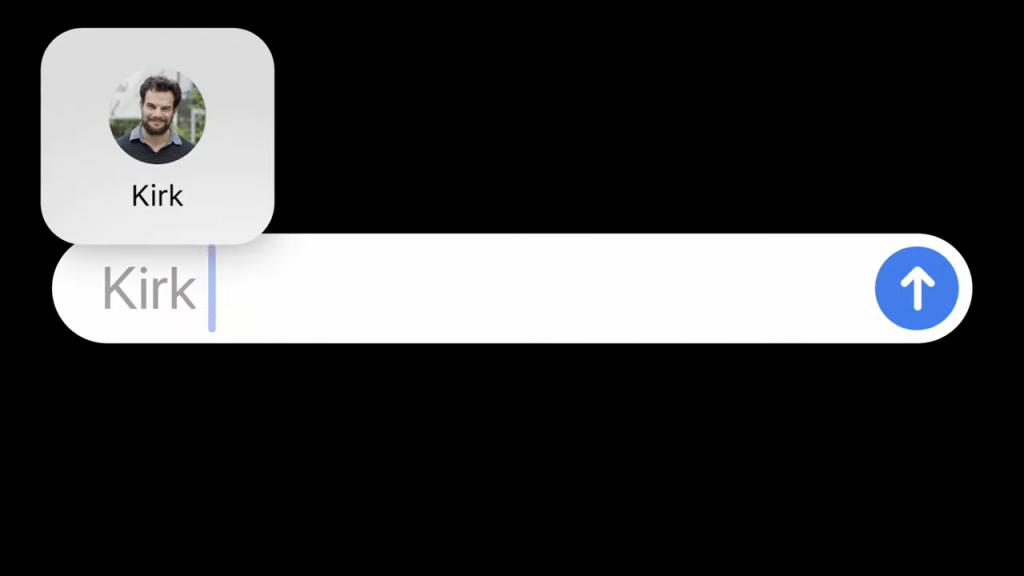 الرجال في الرسائل على iOS 14