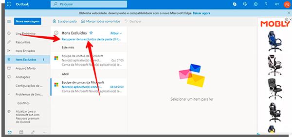 """استرداد رسائل البريد الإلكتروني المحذوفة المحذوفة """"width ="""" 600 """"height ="""" 288 """"data-lazy-src ="""" https://www.apptuts.net/wp-content/uploads/2020/05/recuperar-emails-excluidos -deletados.jpg """"/></p> <p><strong>3 –</strong>كما هو الحال مع إصدار Windows من التطبيق ، يمكنك استرداد جميع رسائل البريد الإلكتروني من المجلد بالنقر فوق الخيار<strong>استعادة العناصر المحذوفة من هذا المجلد</strong>.</p> <p><img loading="""