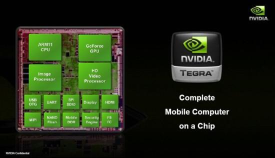 رسم تخطيطي لـ NVIDIA Tegra