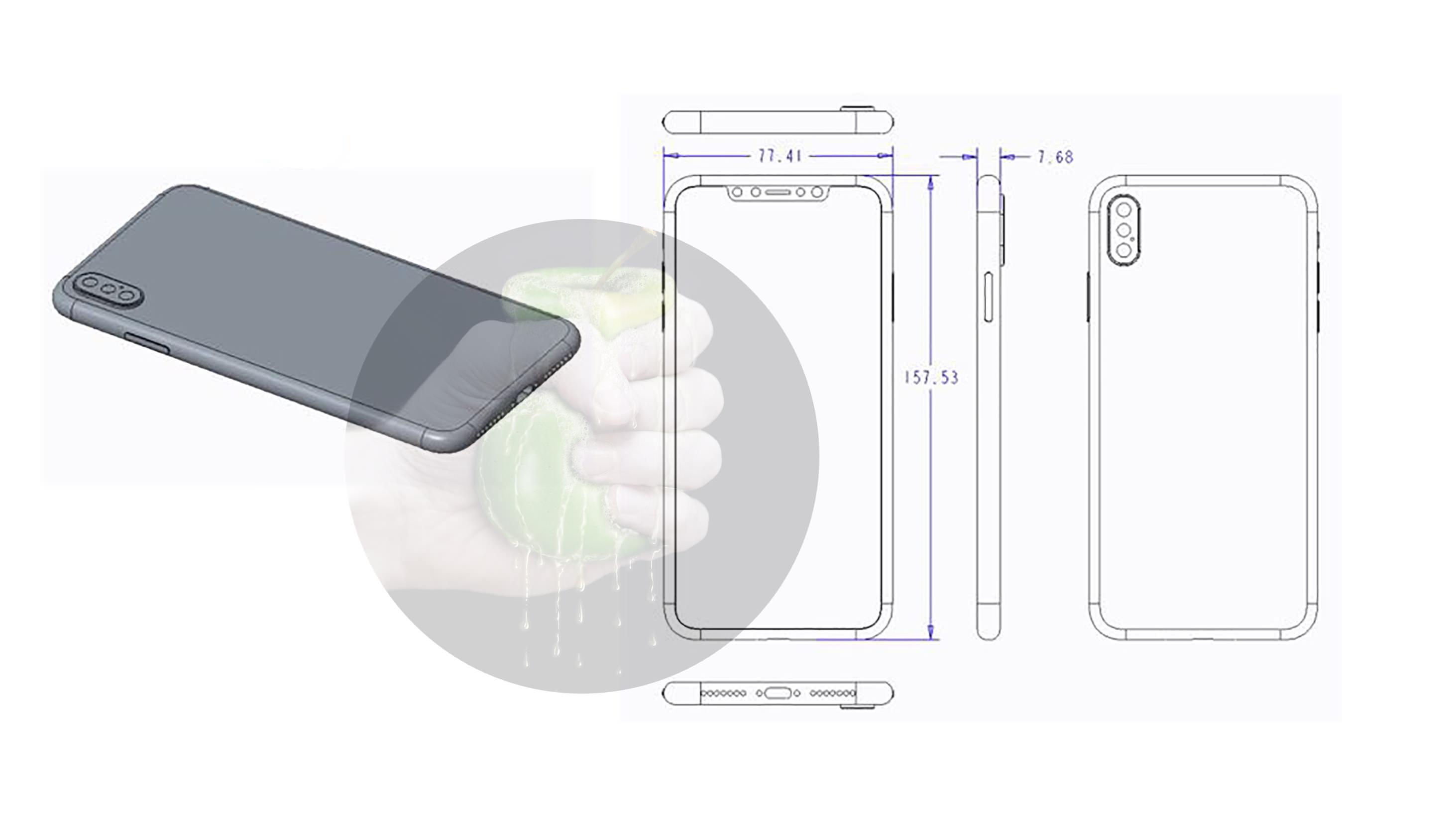 رسم تقني لجهاز iPhone 6.5 المفترض