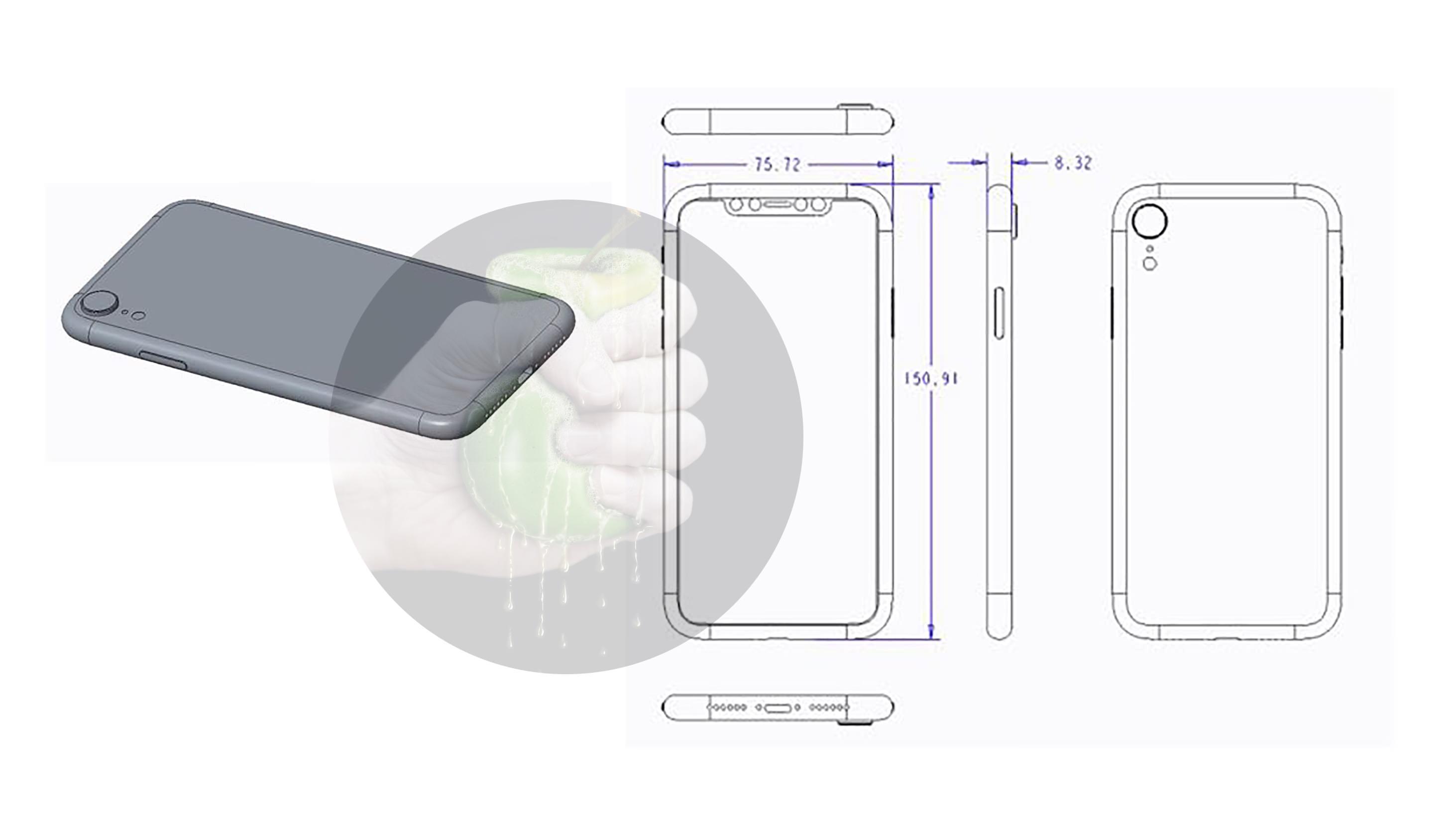 الرسم الفني لجهاز iPhone 6.1 المفترض