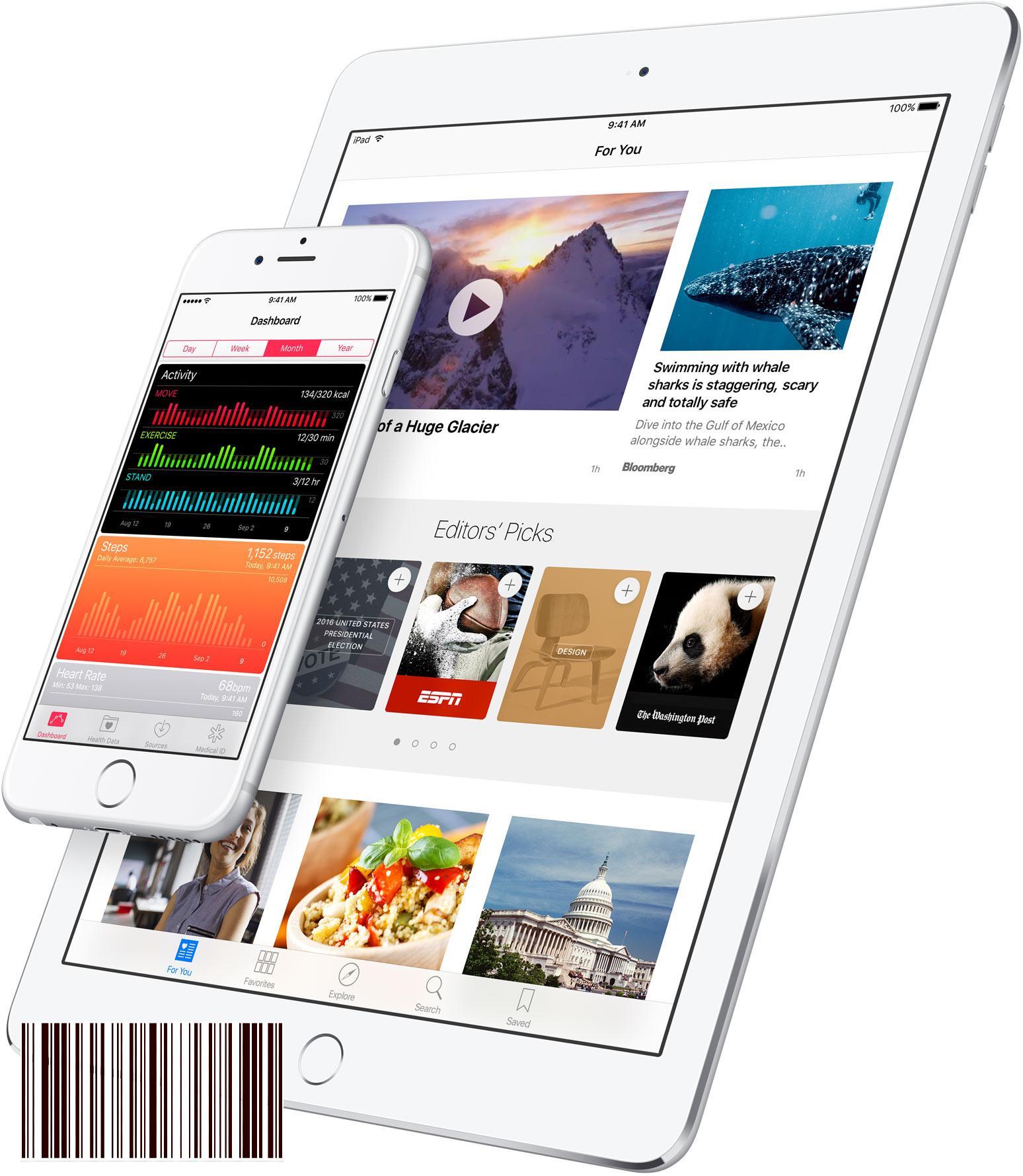 iOS 9.3 على iPad و iPhone