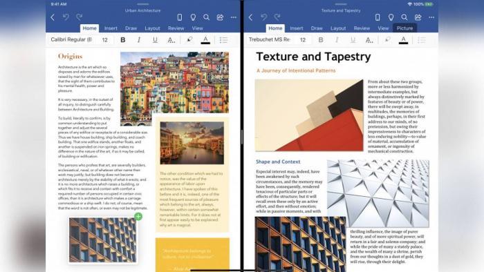 4 ساعات التطبيقات  تقوم Microsoft باختبار تعدد المهام في iPad في Word و PowerPoint