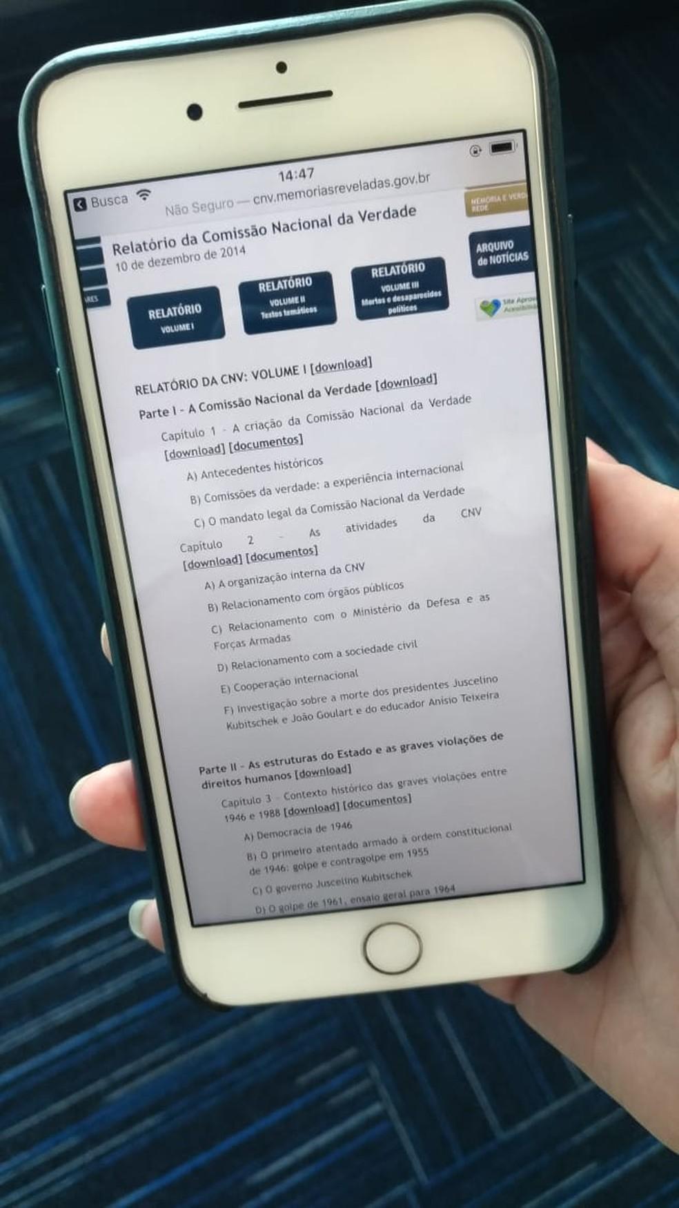 من الممكن أيضًا تنزيل المستندات والتقرير على الهاتف إما كليًا أو جزئيًا. الصورة: لويز رودريغز / تيكتو