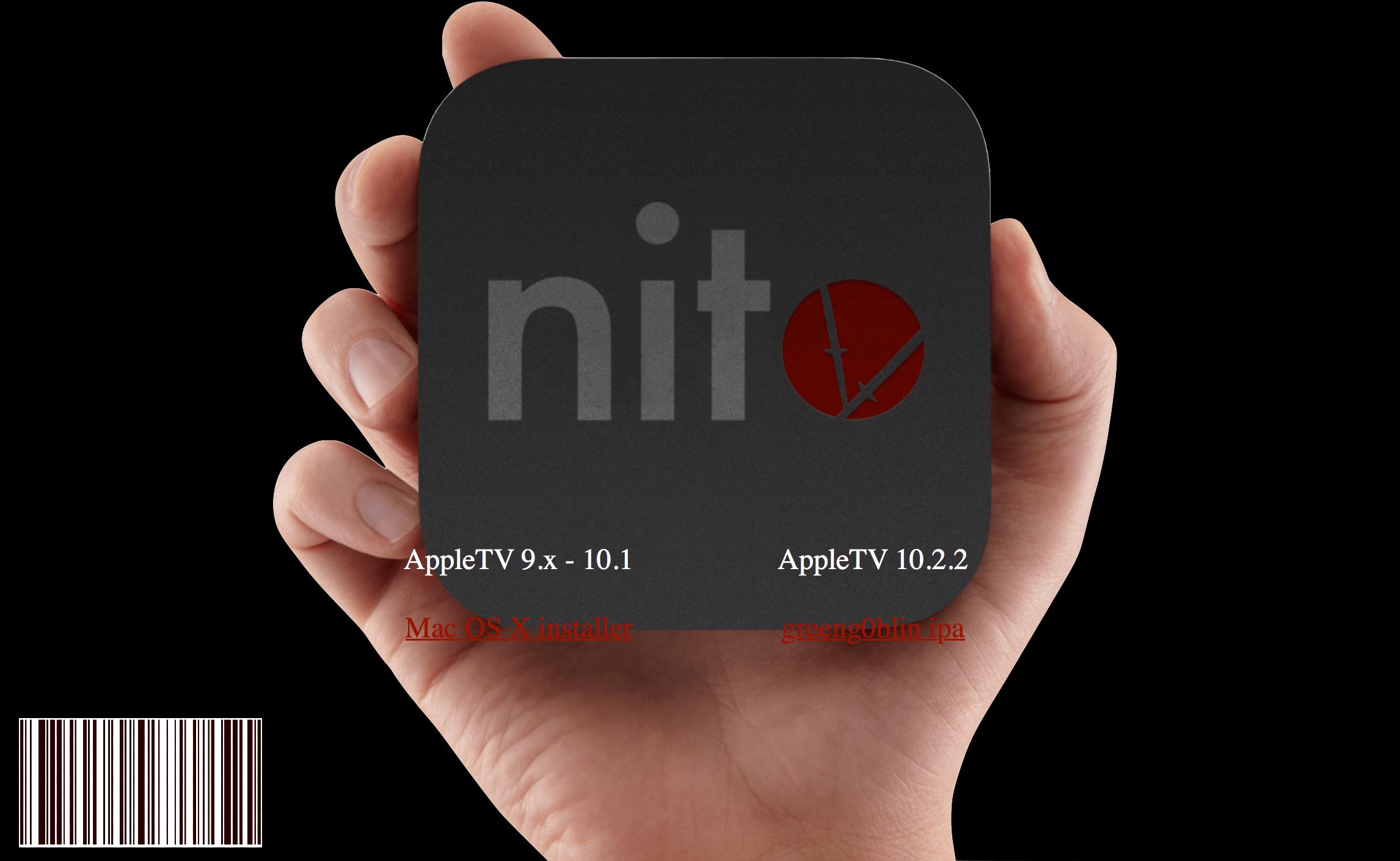 nitoTV تطلق جيلبريك للجيل الرابع و 4 K Apple TV مع tvOS 10.2.2